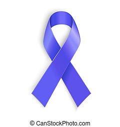 Purple ribbon as symbol of cancer awareness, drug overdose,...