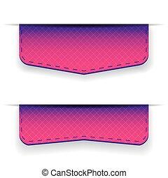Purple ribbon set vector