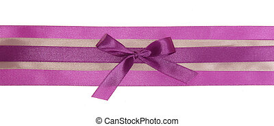 Purple ribbon with a bow