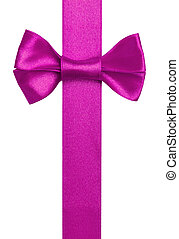 Purple ribbon with bow