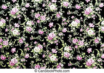 Purple Rose Fabric Background, Fragment of colorful retro tapest
