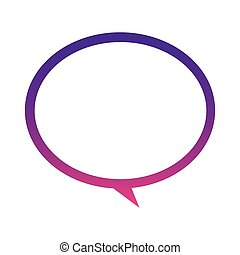 purple round chat bubble icon
