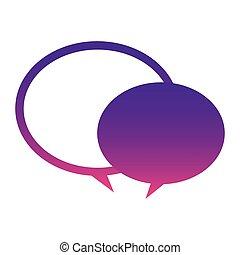purple round chat bubbles icon