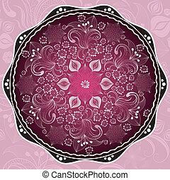 Purple round frame