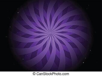 Purple round swirl