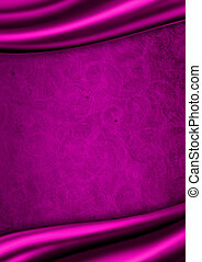 Purple satin fabric background
