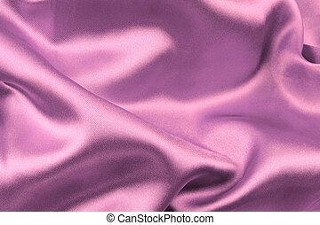 Purple satin fabric , close up