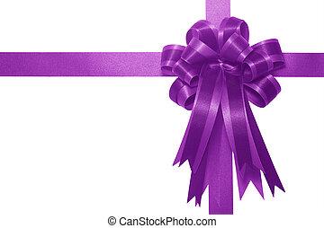 Purple satin gift bow