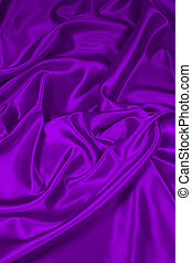 Purple Satin/Silk Fabric 2 - Luxurious deep purple...