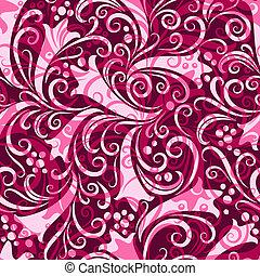 Purple seamless floral pattern