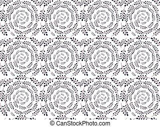 purple seamless lace floral pattern on white background