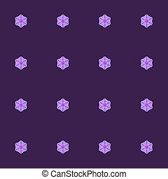 Purple Seamless Pattern with Lilac Roses. Vector