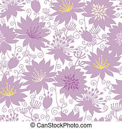 Purple shadow florals seamless pattern background - Vector...