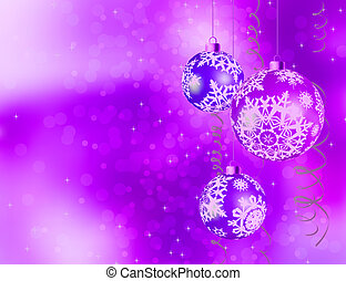 Purple shiny Christmas background. EPS 8