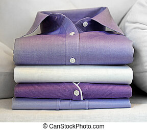 Purple shirt - Formal purple shirt at pile of clothing