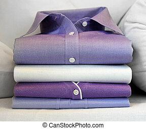 Purple shirt - Formal purple shirt at pile of clothing