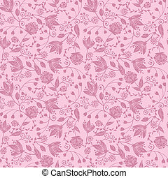 Purple silhouettes flowers seamless pattern background -...