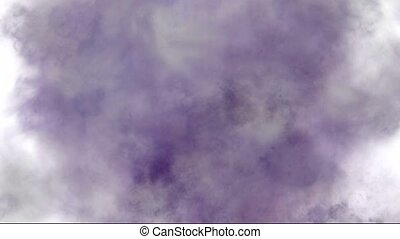 purple smoke and steam in space