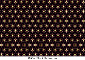 Purple snowflake on a black background
