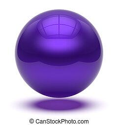 Purple sphere round button basic ball circle geometric shape blue