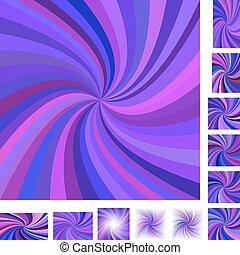 Purple spiral background set