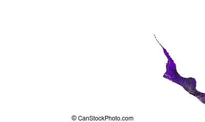 purple splash in the air. Liquid in slow motion. oil