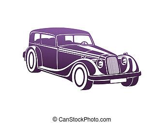 Purple sport classic automobile