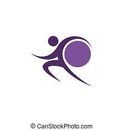 Purple sportman and world