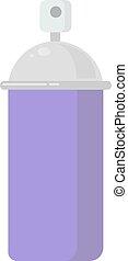 Purple spray, illustration, vector on white background.