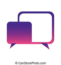 purple square chat bubbles icon