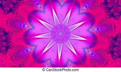 Purple star kaleidoscope