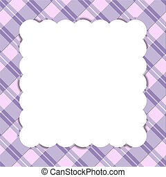 Purple striped celebration frame for your message or invitation