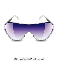 Purple sunglasses isolated on white vector