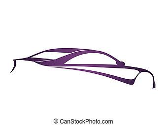 Purple super sport auto
