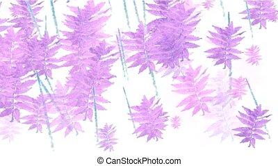 purple swing leaves,watercolor style,spring scenery