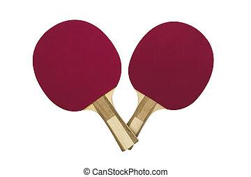 Purple table tennis rackets