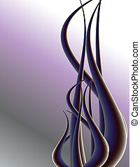 Purple tendril background 1 - Purple tendril on background ...