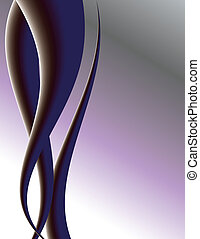 Purple tendrils on background with space for copy