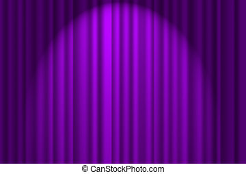 A purple textured background, stage curtain