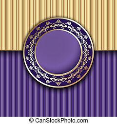 Purple textured template