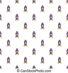 Purple toy rocket pattern