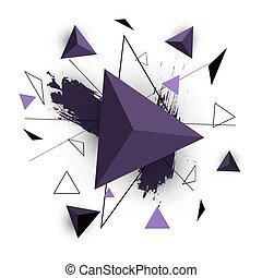 Purple triangle abstract on white background