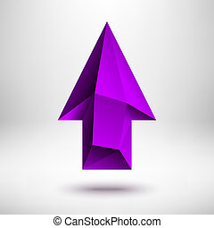 Purple Up Arrow Sign