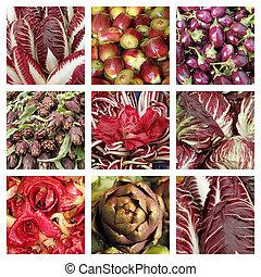 purple vegetable collage