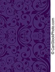 Purple Vintage background - Classic vintage flower design