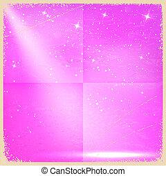 Purple vintage retro background with stars. Vector illustration
