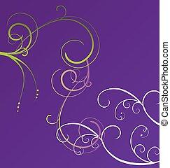 purple violet floral background
