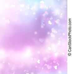 Purple violet pink blurred valentine background.