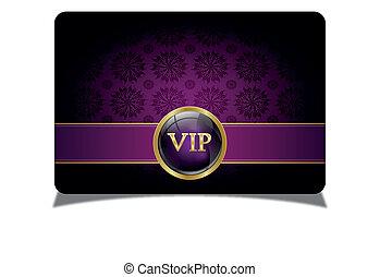 Purple vip card