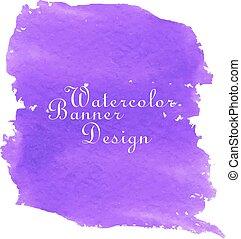 Purple watercolor banner design